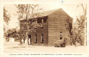 Dearborn Michigan~Lincoln Court House (Re-Erected in Greenfield Village)~37 RPPP