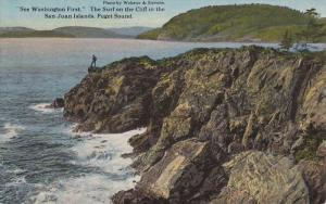 See Washington First The Surf on the Cliff in the SAN JUAN ISLANDS, Puget S...