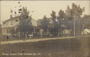 East Sebago ME Blake House c1920 Real Photo Postcard
