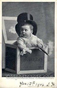 Children Smoking 1904 very light crease top edge, some corner wear, writing o...