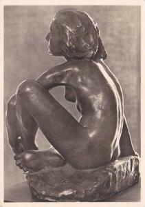 RP; Nazi Era Art, Munchen, Georg Kolbe: Sitzendes Madchen, Bronze, 1907, Seit...