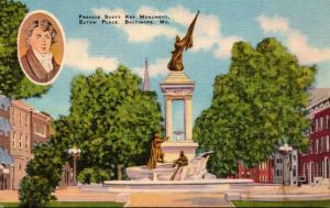 Maryland Baltimore Eutaw Place Francis Scott Key Monument