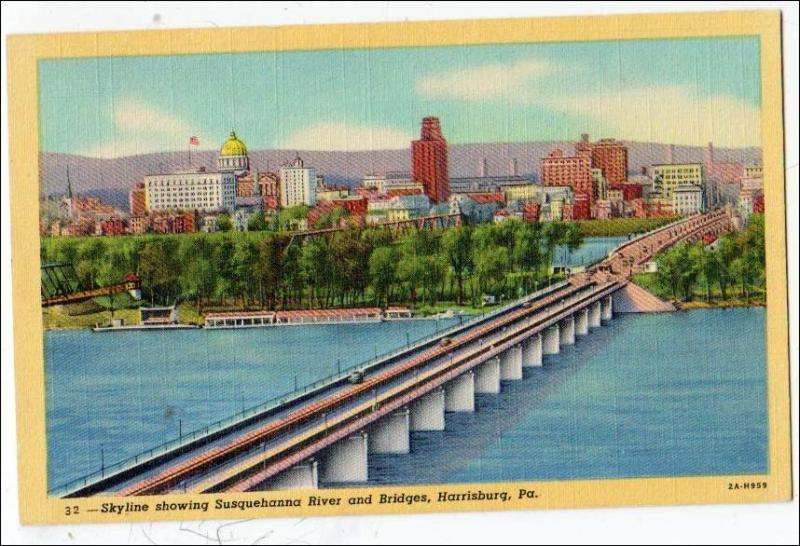 Susquehanna River & Bridges, Harrisburg PA