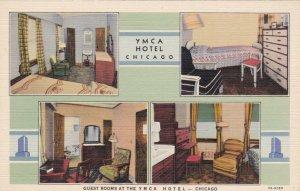 Illinois Chicago Y M C A Hotel Guest Rooms Curteich sk3591