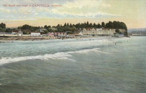 CAPITOLA , California , 1900-10s ; Beach and Hotel