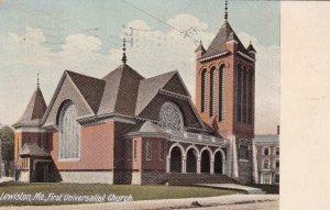 LEWISTON , Maine , PU-1911 ; First Universalist Church