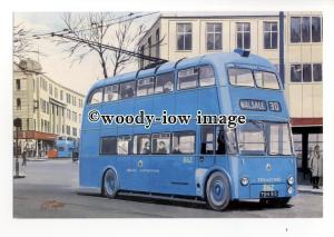 tm6051 - Walsall Trolley Bus Sunbeam F4a No.862 - Artist - G.S.Cooper - postcard