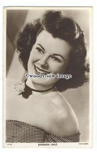 b4316 - Film Actress - Barbara Hale - postcard Picturegoer no W615