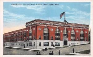 National Guard Armory, Grand Rapids, Michigan, Early Postcard, Unused