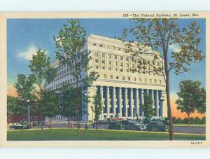 Unused Linen BUILDING SCENE St. Louis Missouri MO H5153