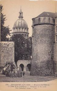Remparts Of The Castle, The Cathedral's Dome, Boulogne-sur-Mer (Pas de Calais...