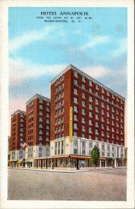 Hotel Annapolis Washington D.C. Linen Postcard