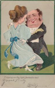 PFB Serie 6310 Humour Couple Dancing Tripping On The Light Fantastic Toe 1907