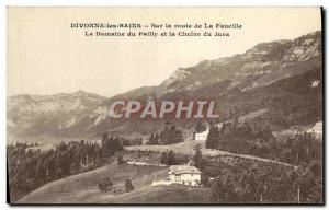 Old Postcard Divonne Les Bains On the Road Sickle field Pailly and the Jura c...