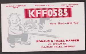 CB QSL Card - Ronald & Hazel Harper Klamath Falls, Oregon