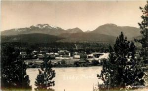 Birdseye View 1940s Libby Montana RPPC real photo postcard 10533