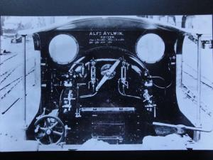 ALF AYLWIN Steam Locomotive Driver showing BACKHEAD RP Photocard 080515