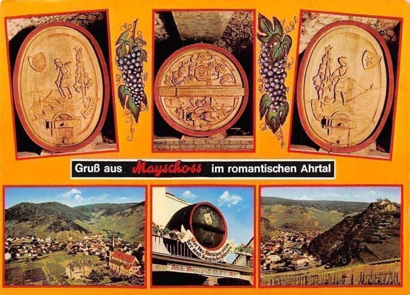 Gruss aus Mayschoss im Romantischen Ahrtal Gesamtansicht Kirche Barrels