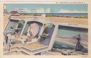 Sand Artist, ATLANTIC CITY, New Jersey, 1930-1940s