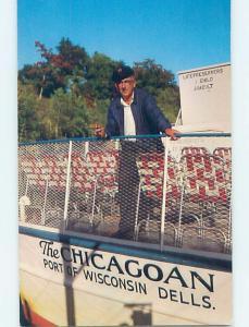 Pre-1980 CAPTAIN HERB DROSTE BOAT PILOT Wisconsin Dells Wisconsin WI hp8373