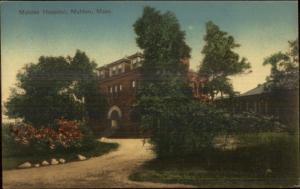 Malden MA Hospital - Nice Coloring c1910 Postcard