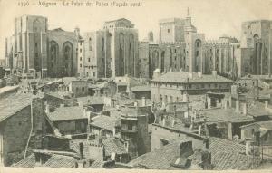 Le Palais des Papes, early 1900s unused Postcard CPA