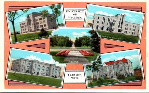 Wyoming Laramie Multi View University Of Wyoming Curteich