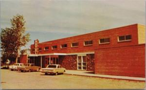 Assiniboia Lodge Hotel SK Sask Restaurant Old Cars Unused Vintage Postcard E21