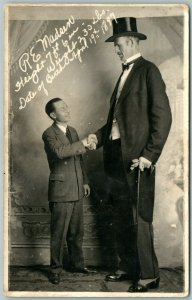 GIANT MAN LOS ANGELES CA ANTIQUE REAL PHOTO POSTCARD RPPC