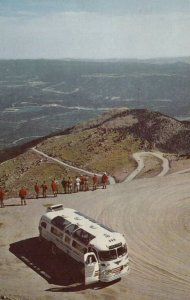 Tour Bus Stop at Lookout Point, PIKES PEAK HIGHWAY, Colorado, PU-1967
