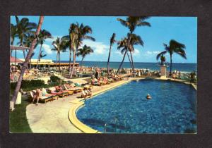 FL Pool View The Sea Isle Hotel Motel Miami Beach Florida Postcard