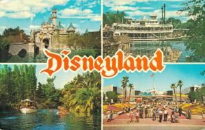 USA - Disneyland Sleeping beauty Castle, Mark Twain Steamboat California 01.64