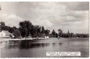 Cottages & Beach, Kring's Lodge, Sand Lake, Plevna, Ont