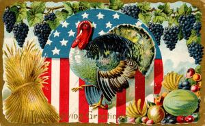 Greeting - Thanksgiving, Patriotic, Turkey