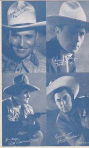 Cowboy Arcade Card Gene Autry Tom Tyler Bill Desmond Johnny Mack Brown