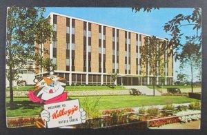 Kellogg Company, Tony The Tiger, Battle Creek Michigan MI Postcard (F2)