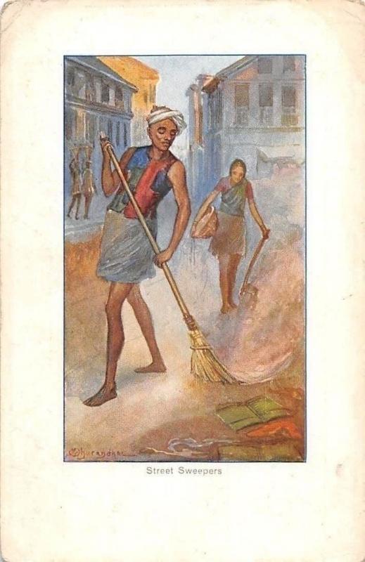 India Street Sweepers (British India) / HipPostcard