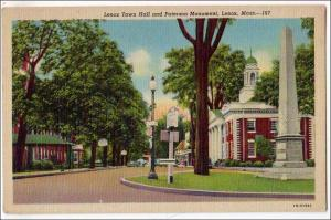 Town Hall & Paterson Monument, Lenox MA