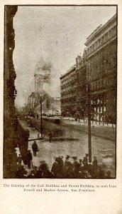 CA - San Francisco. 1906 Earthquake & Fire. Call Building & Parrot Building B...