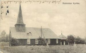 1905-1913 Printed Postcard; Sunnemo kyrka Church, Sweden, posted