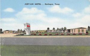 Harlingen Texas Judy Lin Motel Antique Postcard J52570