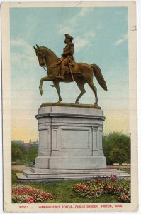 Boston, Mass, Washington's Statue, Public Garden