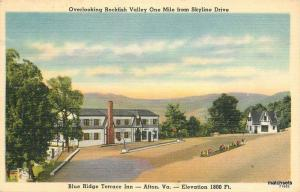 1930s AFTON VIRGINIA Blue Ridge Terrace Inn Rockfish Tichnor postcard 5191