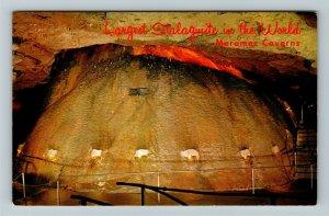 Stanton MO- Missouri, Onyx Mountain, Meramec Caverns, Chrome c1968 Postcard