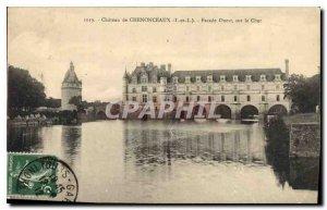 Old Postcard Chateau de Chenonceau on the Cher Facade Quest