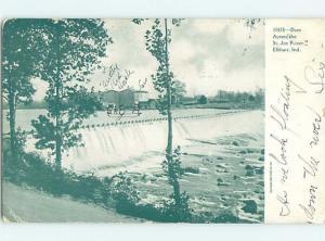 Pre-1907 DAM ACROSS SAINT JOE RIVER Elkhart Indiana IN A1387