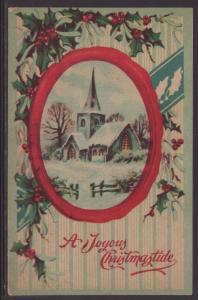 A Joyous Christmastide,Church Postcard