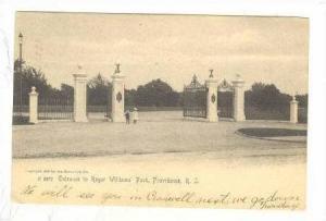 Entrance, Roger Williams' Park, Providence, Rhode Island, 1906