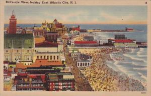 New Jersey Atlantic City Birds Eye View Looking East