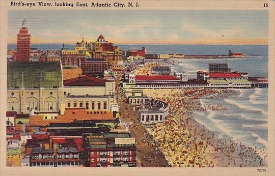New Jersey Atlantic City Birds Eye View Looking East